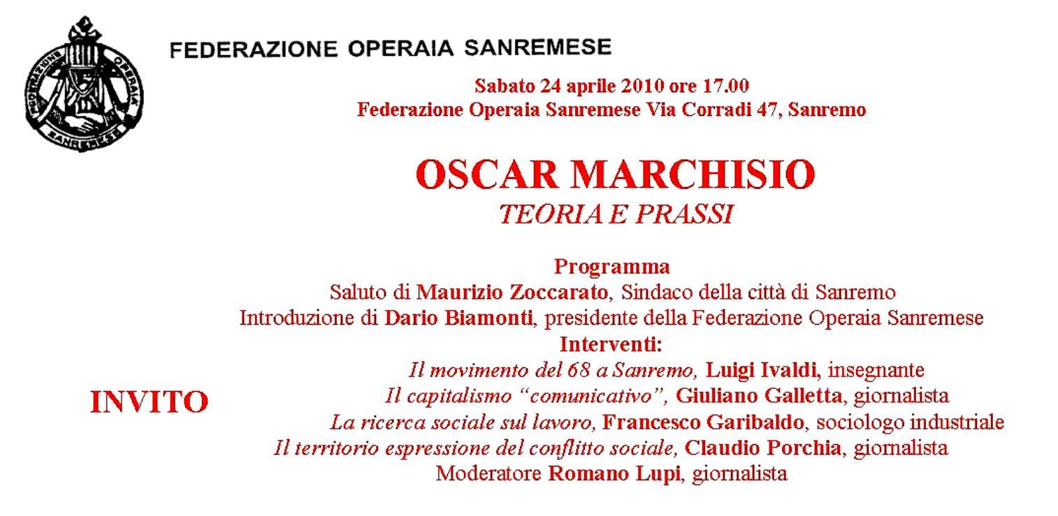 Oscar Marchisio - Teoria e prassi
