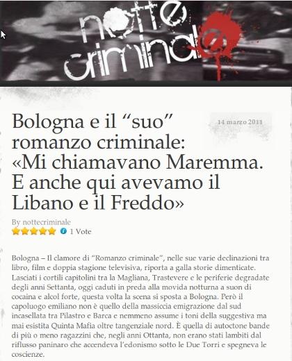 Bologna e il suo romanzo criminale