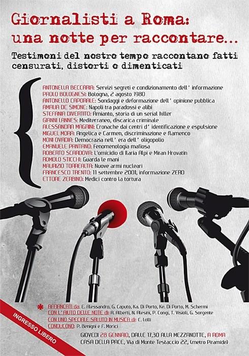 Giornalisti a Roma: una notte per raccontare
