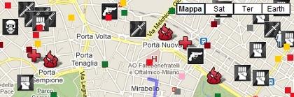 Il giro della nera a Milano centro