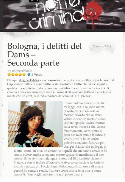 Bologna, i delitti del Dams - Seconda parte