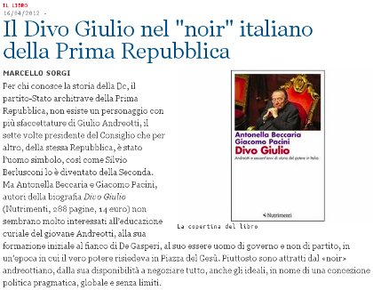 Divo Giulio recensito di Marcello Sorgi