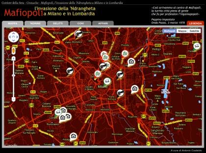 Mappa della criminalità in Lombardia