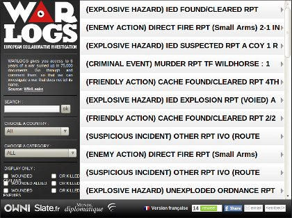 WarLogs - European collaborative investigation